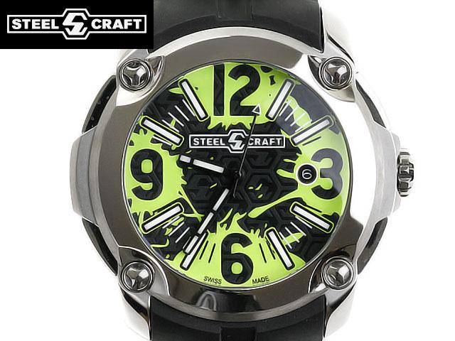 STEELCRAFT スティールクラフト 腕時計 RGQ3C02A00P スイスメイド ブラック ブルー グリーン ホワイト ピンク イエロー クオーツ 【送料無料 並行輸入品】