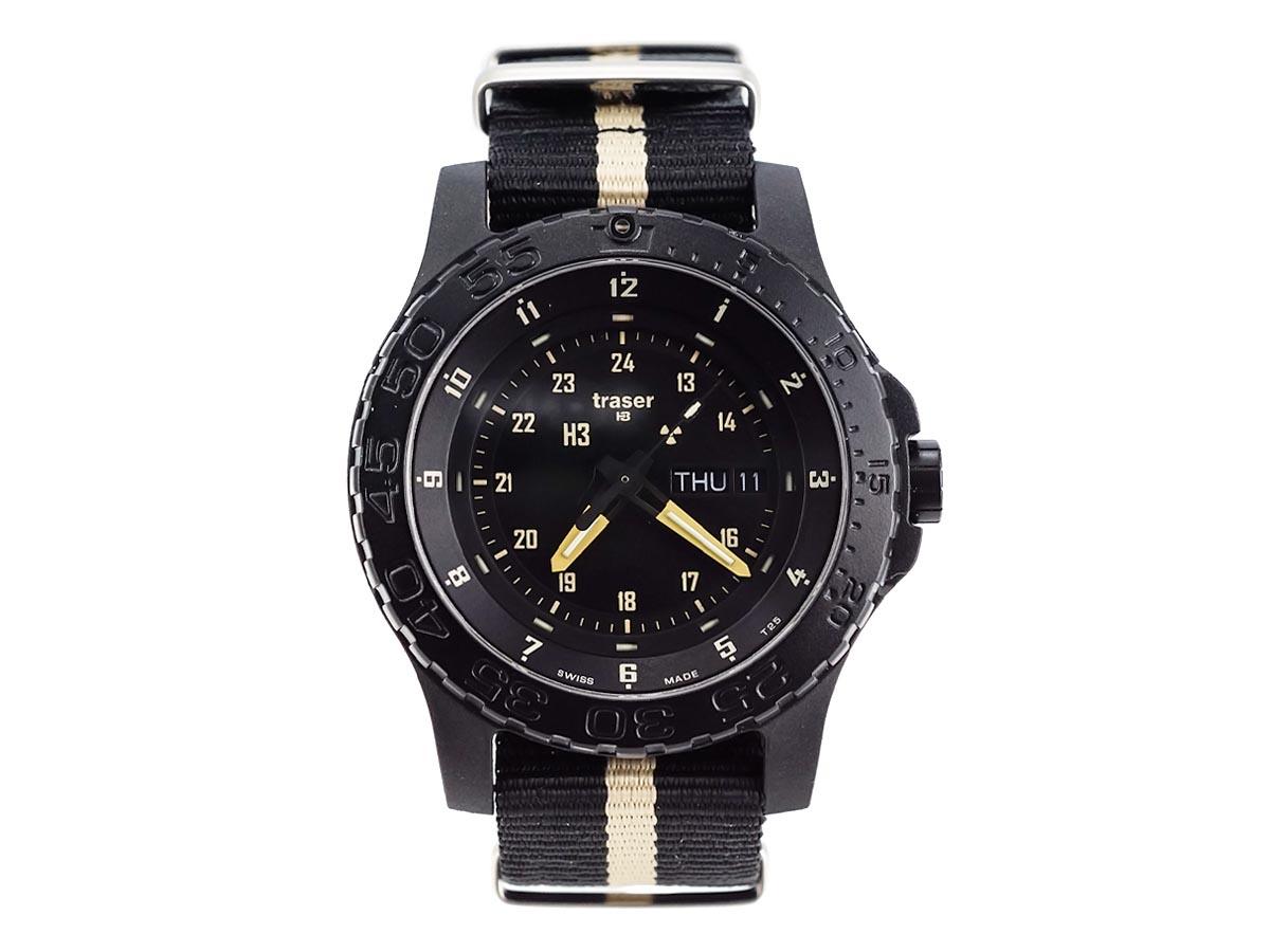 TRASER トレーサー メンズ腕時計 9031550 P6600 MIL-G SAND ブラック×サンド ミリタリーウォッチ 【送料無料】