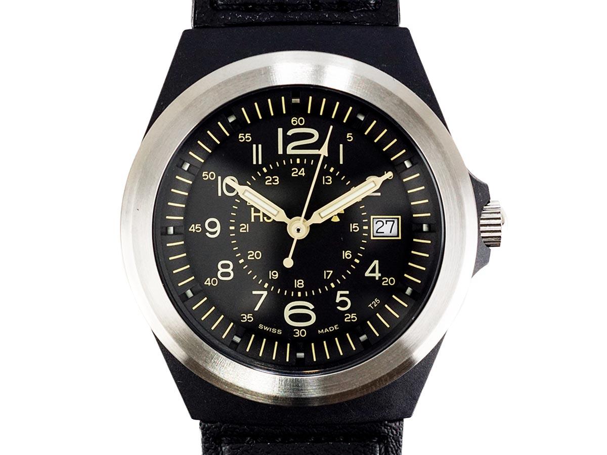 TRASER トレーサー メンズ腕時計 9031553 TYPE3 PILOT SV ブラック ミリタリーウォッチ 【送料無料】