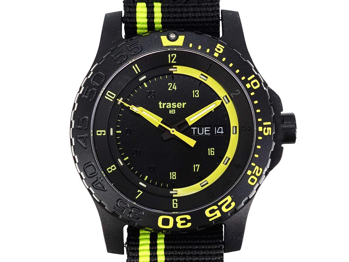TRASER トレーサー メンズ腕時計 9031564 MIL-G ミリタリーウォッチ GREEN SPIRIT ブラック×グリーン 【送料無料】