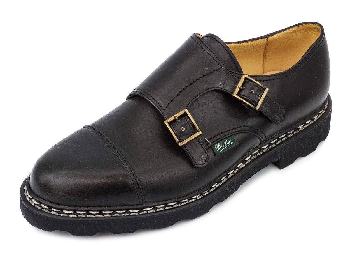 PARABOOT パラブーツ ローファー WILLIAM ウィリアム 981412 レディース メンズ シューズ 革靴 NOIR ブラック サイズ6 【送料無料 並行輸入品】