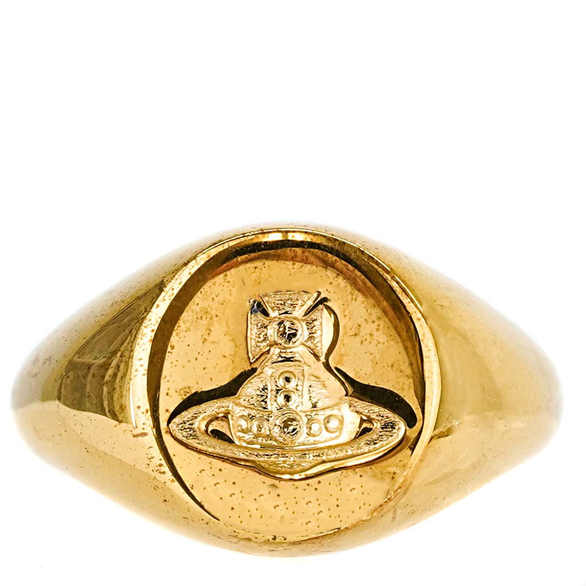送料無料 Vivienne Westwood ハイクオリティ ヴィヴィアンウエストウッド ユニセックス リング SR1837 2 SIGILLO RING 指輪 男女兼用 男性 レディース 女性 並行輸入品 ゴールド オーブ GOLD 大決算セール メンズ
