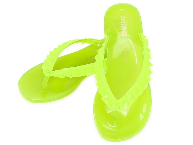 eb2d7aaf2d2016 Melissa Melissa Beach Sandals CUTE SALINAS cute 30622 06304 LIMEGREEN lime- green rubber shoes