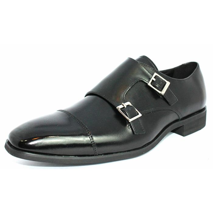 FRANCO 定番キャンバス GALLERIA TERRA SHOE STORE 本革 ビジネスシューズ ダブルモンクストラップ 公式 紳士靴 24.5cm~27.0cm