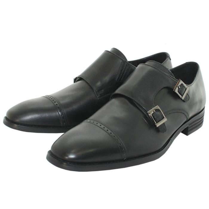 メダリオンの一文字が特徴 爆買い送料無料 新色 TERRA SHOE STOREダブルモンクストラップ 24.5cm~27.0cm ビジネスシューズ 紳士靴 本革