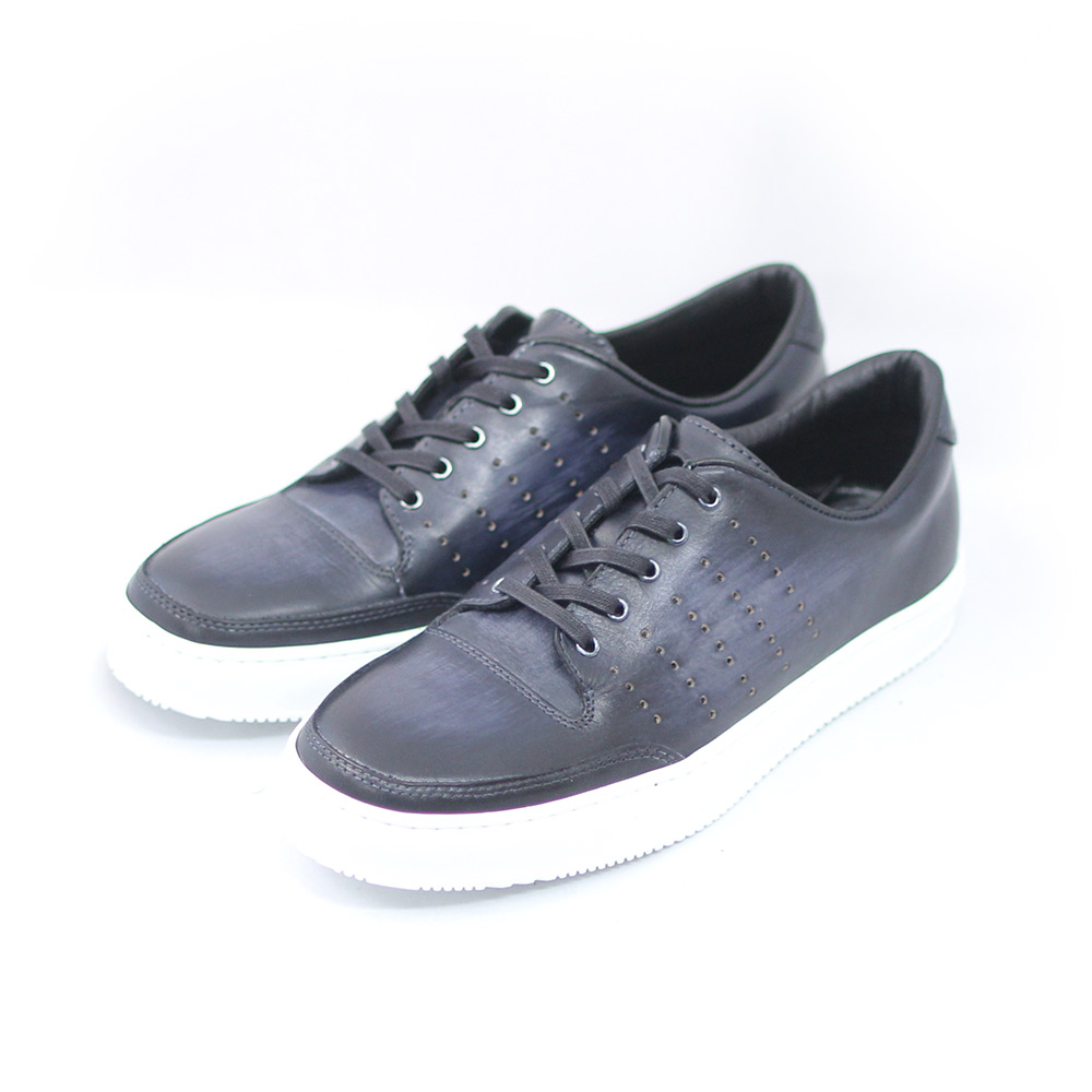 TERRA SHOE STORE 格安店 スニーカー 25cm~27.0cm 紳士靴 本革 ブラック 新色追加