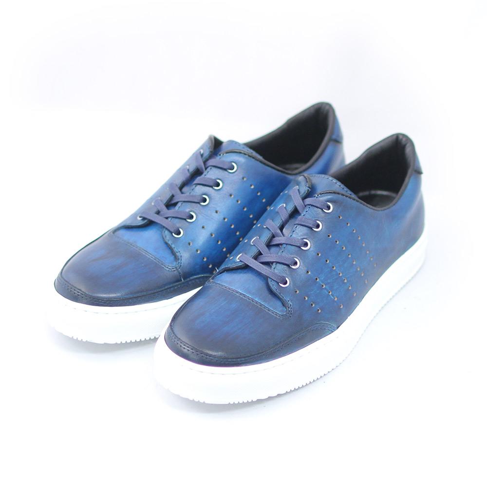 TERRA SHOE 買収 STORE スニーカー ネイビー トレンド 本革 紳士靴 25cm~27.0cm