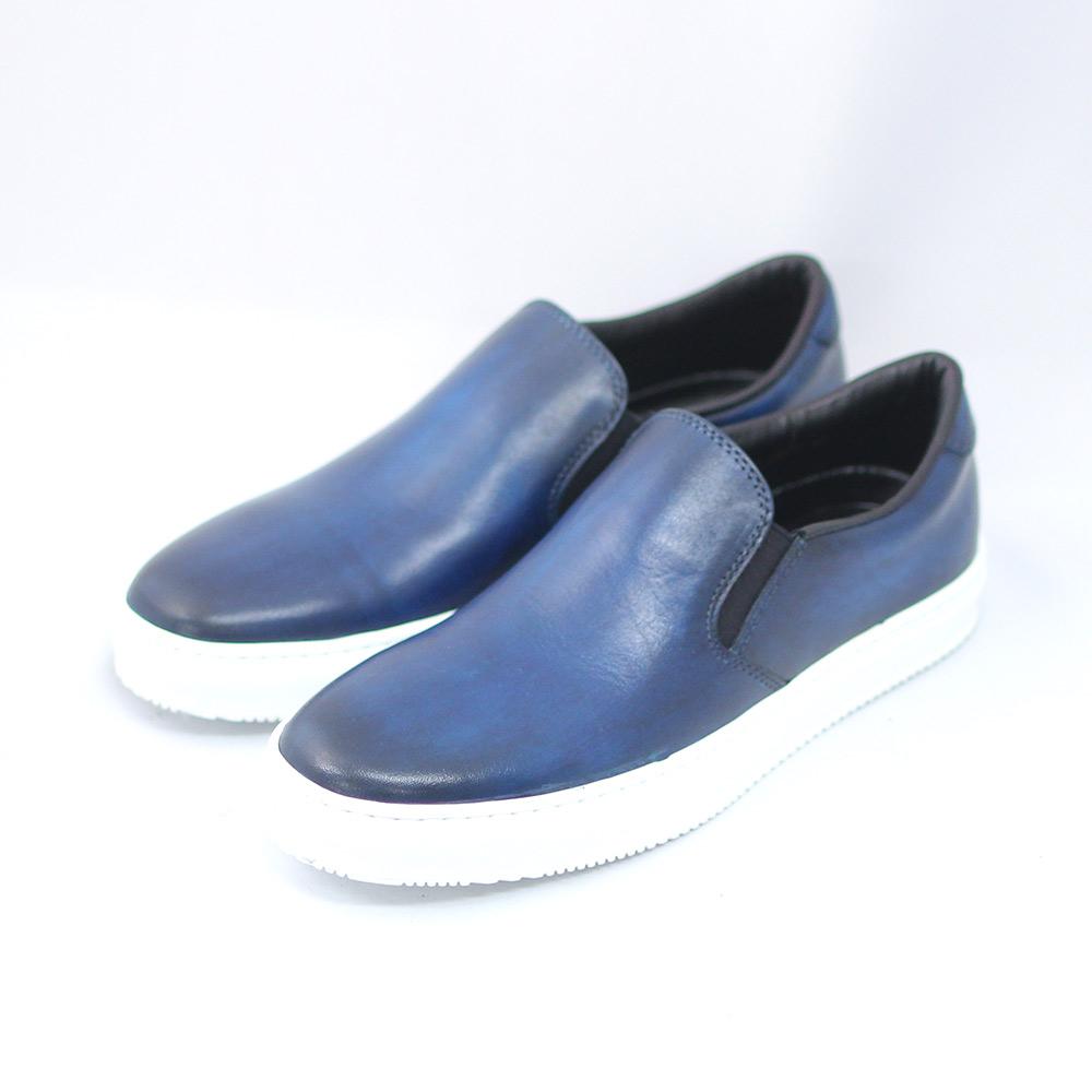 TERRA SHOE STORE 公式ショップ スリッポン 出色 ネイビー 紳士靴 25cm~27.0cm 本革 スニーカー
