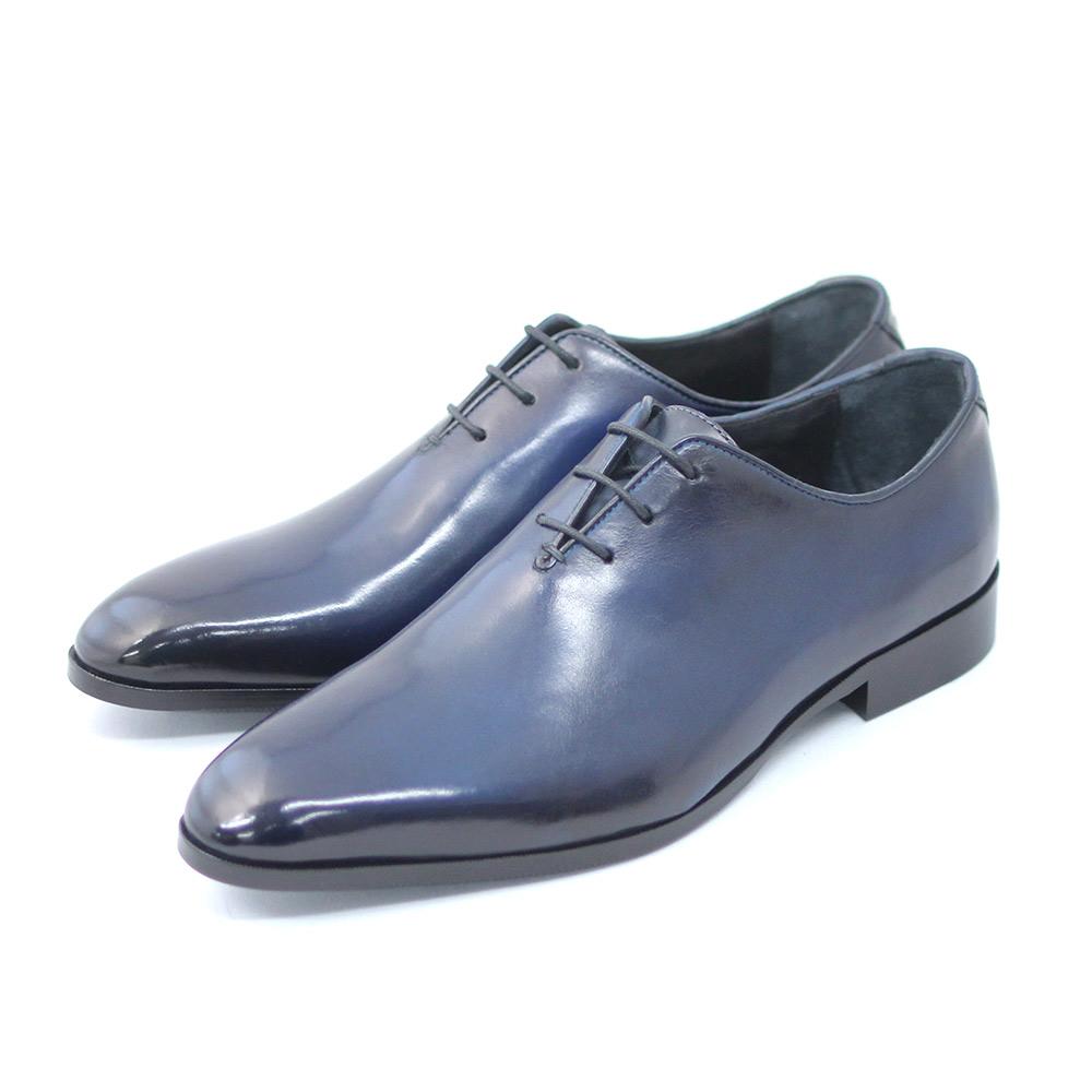 TERRA SHOE STORE ホールカット ネイビー 予約販売品 25cm~27.0cm ビジネスシューズ 紳士靴 本革 出群