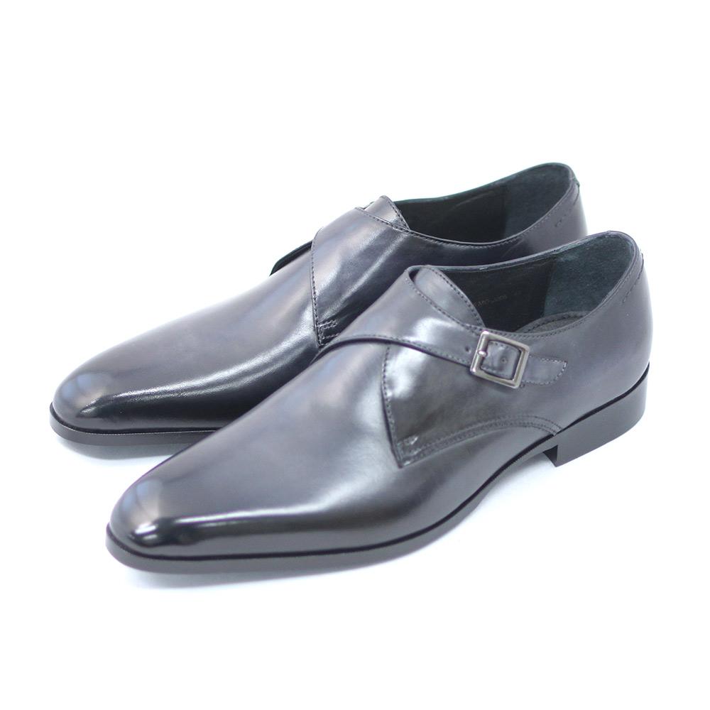 TERRA SHOE STORE お値打ち価格で モンクストラップ ブラック 本革 キャンペーンもお見逃しなく ビジネスシューズ 25cm~27.0cm 紳士靴