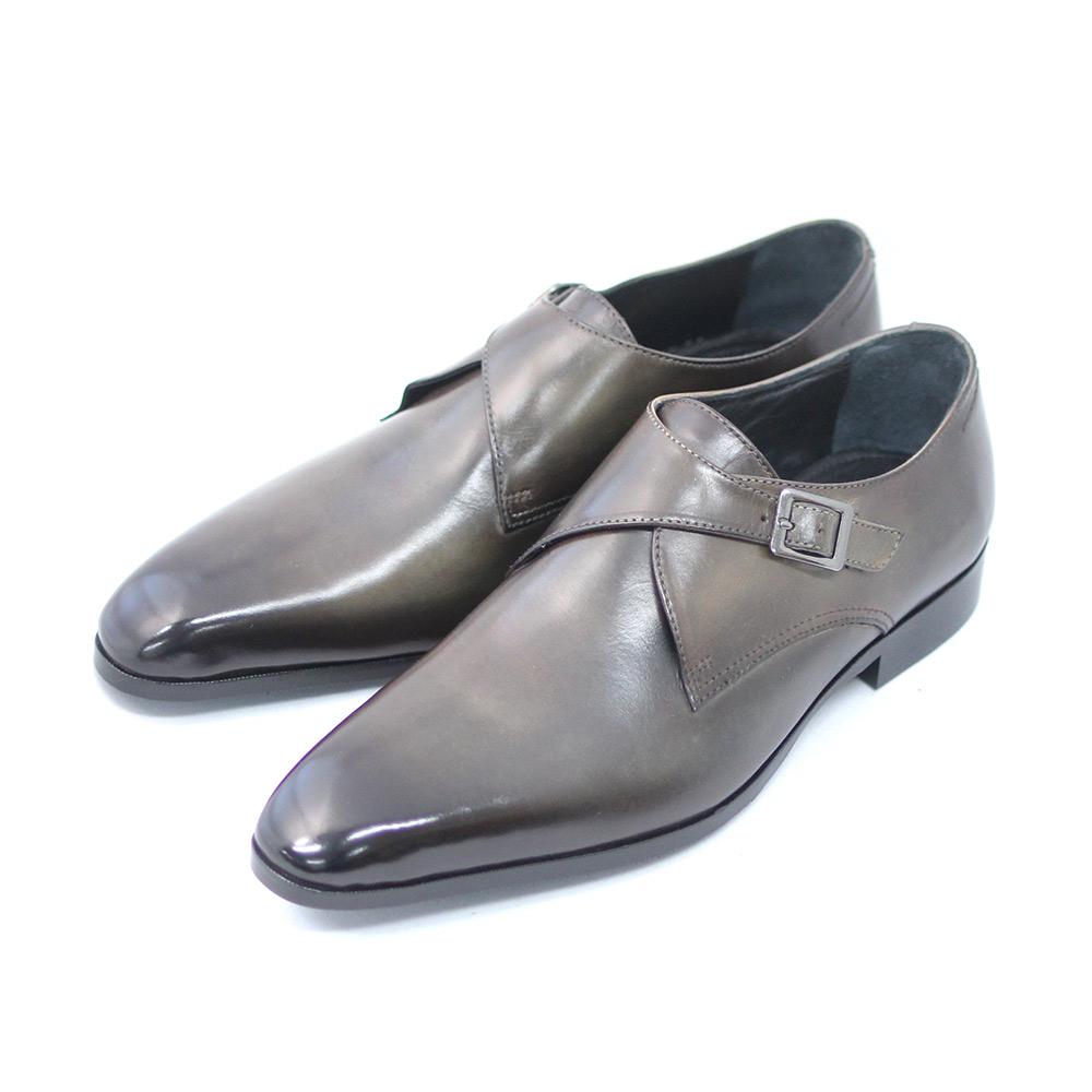 TERRA 超安い SHOE 2020秋冬新作 STORE モンクストラップ カーキブラウン 本革 25cm~26.5cm 紳士靴 ビジネスシューズ