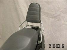 キジマ(KIJIMA) 210-0016 バックレスト アドレスV125S / アドレスV125Sベーシック(L0)用 スチール製クロームメッキ ※背パット付属