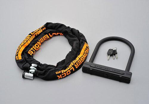 デイトナ(DAYTONA) ストロンガーロックセット チェーンロック2.0+U字ロックH220mm 96391