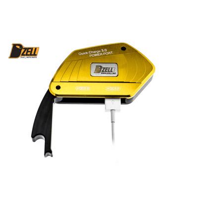 DZELL(ディーゼル) バイク用USBポート USB TWOポート BMW‐R ゴールド 780211