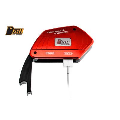 DZELL(ディーゼル) バイク用USBポート USB TWOポート BMW‐R レッド 780212