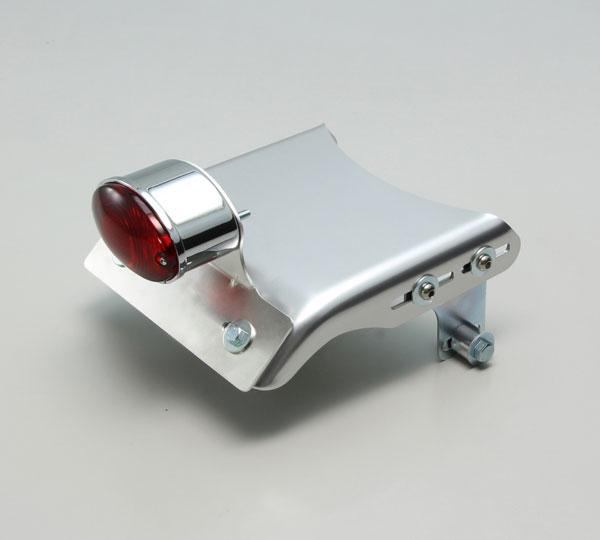ハリケーン(HURRICANE) SR500(85-00)/ SR400(85-16)用 リア フェンダーレスキット ポリッシュアルマイト(キャッツアイミニテールランプ) HA5579