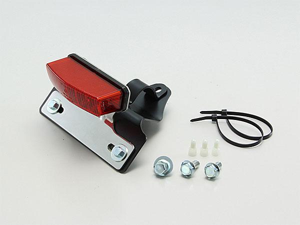 ハリケーン(HURRICANE) グラストラッカービックボーイ(00-16)用 リア フェンダーレスキット ブラック LEDレクタングルテールランプ レッドレンズ HA5818R