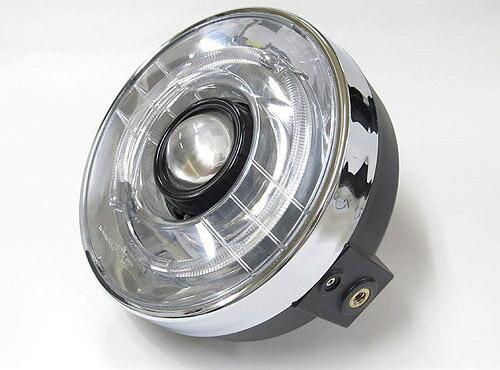 プロテック バイク用LEDプロジェクターヘッドライト LH-3150 180φ ネイキッド 丸目タイプ 3000K 63150-30