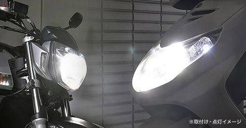 即納 プロテック バイク用 LEDヘッドライトバルブキット(ショートヒートシンクタイプ) LB4-S H4 Hi/Lo 6000K 65001