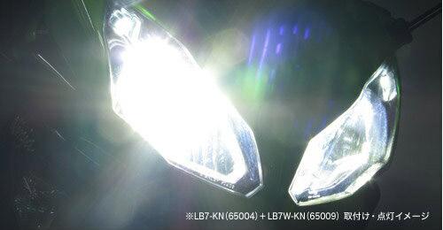 プロテック ZX-10R等用 LEDヘッドライトバルブキット LB7W-KN H7 Hi/Lo 6000K ※Hiビーム側専用 65009