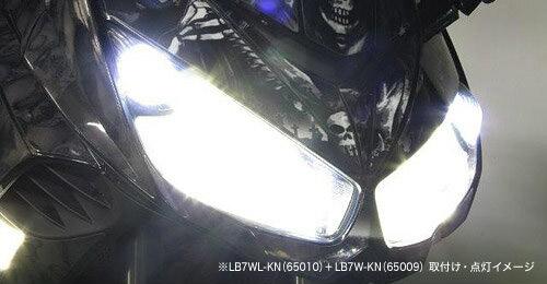 プロテック CBR1000RR / ZX-10R等用 LEDヘッドライトバルブキット LB7WL-KN H7 Hi/Lo 6000K ※Loビーム側専用 65010