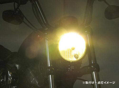 プロテック スポーツスターXL1200/XL883、XL1200Xフォーティーエイト、XL1200Vセブンティーツー用 LEDヘッドライトバルブキット LB4-XL3 H4 Hi/Lo 3000K 65050-30