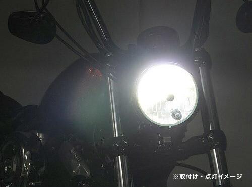 プロテック スポーツスターXL1200/XL883、XL1200Xフォーティーエイト、XL1200Vセブンティーツー用 LEDヘッドライトバルブキット LB4-XL6 H4 Hi/Lo 6000K 65050-60