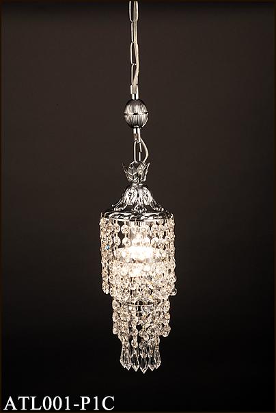 ATL001-P1C アカネライティング トルコイスタンブール製ガラスビーズ クローム3段 チェーン吊ペンダント [白熱灯]