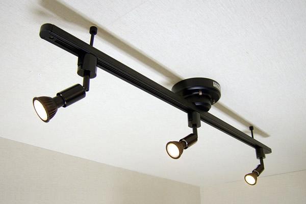 ダクトレール セット MR719-SPECIAL08 てるくにオリジナルセット ワンタッチ簡易式ダクトレール ブラックダイクロハロゲン形調光対応電球色LED スポットライト3個セット あす楽対応