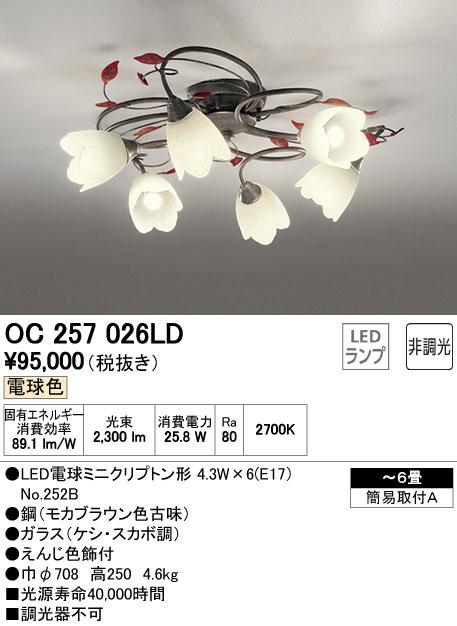 【SALE】 OC257026LD オーデリック 非調光 非調光 直付シャンデリア OC257026LD [LED電球色][~6畳], シューズメガアイビー:fa633336 --- construart30.dominiotemporario.com