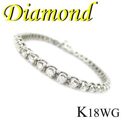 1-1601-02004 RSDZ ◆ K18 ホワイトゴールド ダイヤモンド 3.80ct ブレスレット