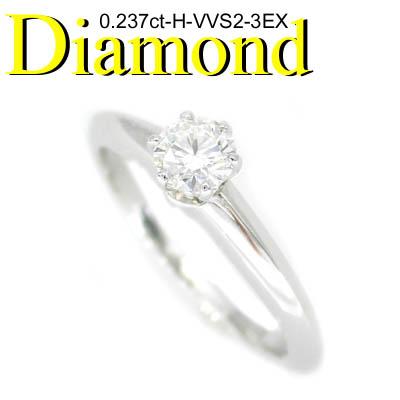 1-1308-02001 GDM ◆ 婚約指輪(エンゲージリング) Pt950 プラチナ リング 3EX ダイヤモンド 0.237ct