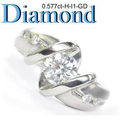 1-1403-02038 ATDM ◆ 婚約指輪(エンゲージリング) Pt900 プラチナ リング ダイヤモンド 0.577ct