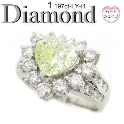 1-1507-06020 RSDS ◆ エンゲージリング Pt900 プラチナ リング ハートシェイプ ダイヤモンド 1.197ct