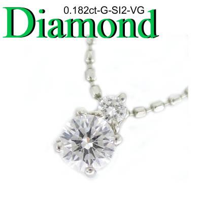 1-1403-09109 TDK ◆ Pt プラチナ プチ ペンダント&ネックレス ダイヤモンド 0.182ct