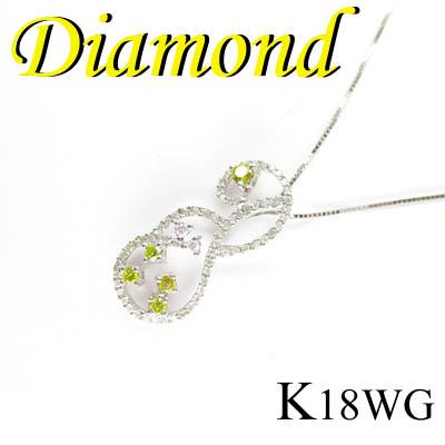 1-1405-06008 TDA ◆ K18 ホワイトゴールド デザイン ペンダント&ネックレス ダイヤモンド 0.65ct