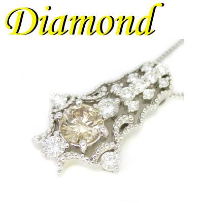 1-1910-02005 ZDZ ◆ K18 ホワイトゴールド デザイン ペンダント&ネックレス ダイヤモンド 1.32ct