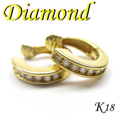 1-1509-06086 RDR ◆ K18 イエローゴールド ダイヤモンド デザイン イヤリング