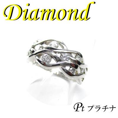 1-1610-06029 TDS ◆ Pt900 プラチナ リング ダイヤモンド 0.45ct 12号