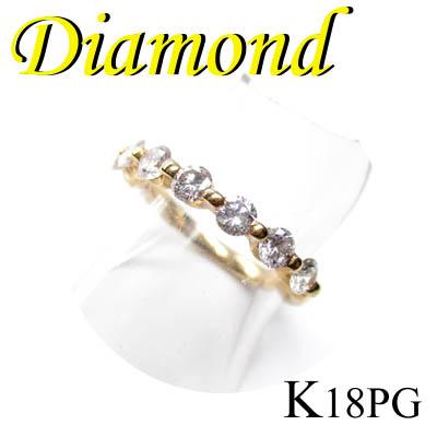 1-1504-01002 IDZ ◆ K18 ピンクゴールド エタニティ リング ダイヤモンド 0.65ct 11号