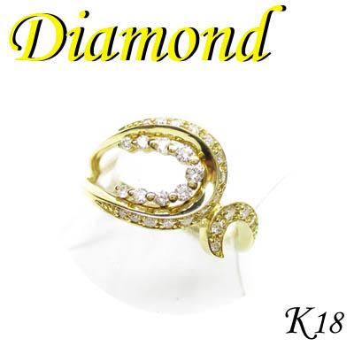 1-1706-03038 KDT K18 イエローゴールド リング ダイヤモンド 0.32ct 12号 送料無料 販促ツールに♪お見舞 割引 非売品 記念品