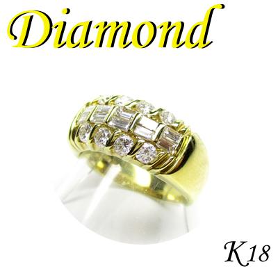 1-1509-06036 GDI ◆ K18 イエローゴールド リング ダイヤモンド 0.91ct 10号