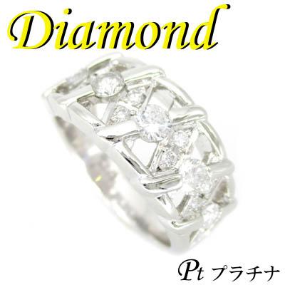 1-1810-02002 UDI ◆ Pt900 プラチナ デザイン リング ダイヤモンド 0.63ct 11.5号