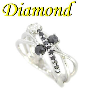 ◆ K18 ホワイトゴールド リング ブラック ダイヤモンド 0.20ct 12号(1-1911-02040 TDR)