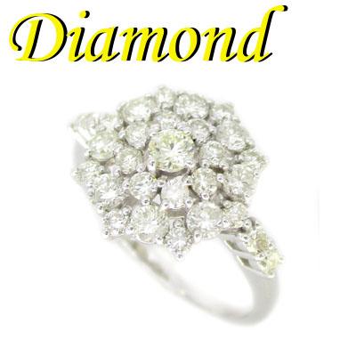 1-2001-03038 ZDA ◆ K18 ホワイトゴールド デザイン リング ダイヤモンド 1.00ct 13号