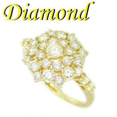 1-2001-03037 ZDA ◆ K18イエローゴールド デザイン リング ダイヤモンド 1.00ct 13号