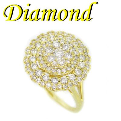 1-2001-03035 UDG ◆ K18 イエローゴールド デザイン リング ダイヤモンド 0.75ct 12.5号