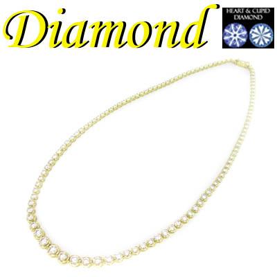 ◆ K18 イエローゴールド ネックレス H&C ダイヤモンド 10.00ct(1-2002-03001 GRD)