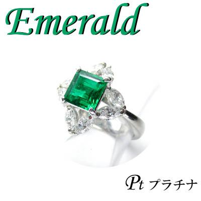 ◆ Pt900 プラチナ リング エメラルド & ダイヤモンド 9.5号(1-1403-02044 RADT)