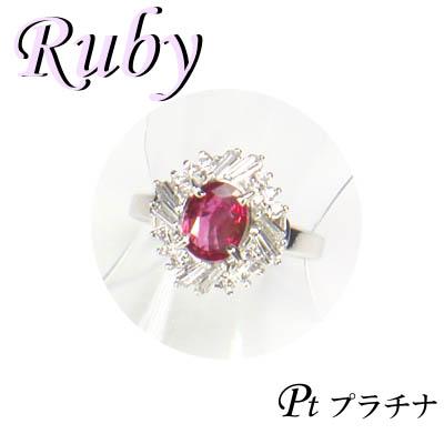 1-1602-06210 ASDZ ◆ Pt900 プラチナ リング ルビー & ダイヤモンド 12号